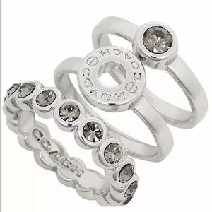 COACH Open Circle Ring Stack Ring Set 56418